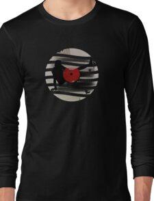 Vinyl Records Vintage Retro Grunge! DJ...Put the record on! Long Sleeve T-Shirt