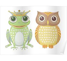 Frog & Owl Poster
