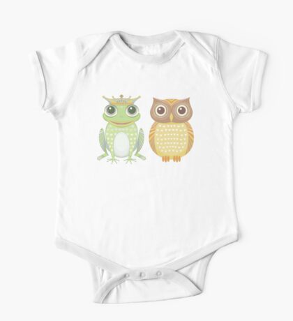 Frog & Owl One Piece - Short Sleeve