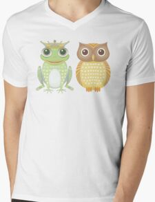 Frog & Owl Mens V-Neck T-Shirt