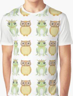 Frog & Owl Graphic T-Shirt