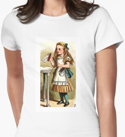 Alice About to Drink the Potion Womens Fitted T-Shirt