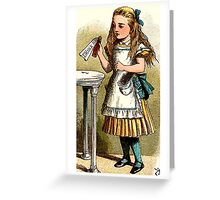 Alice About to Drink the Potion Greeting Card
