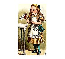 Alice About to Drink the Potion Photographic Print