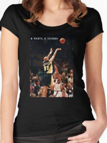 8 POINTS, 9 SECONDS. Women's Fitted Scoop T-Shirt
