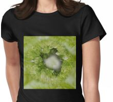 Peridot Green heart shaped crystal geode Womens Fitted T-Shirt