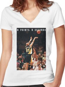 8 POINTS, 9 SECONDS 2.0 Women's Fitted V-Neck T-Shirt