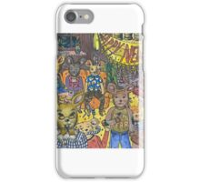 Mouse family celebrating New Years, illustration, watercolor iPhone Case/Skin