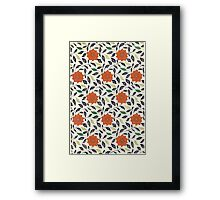 Red flowers and leaves entwined: Chinese art in London, 1867 Framed Print