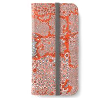 I don't know orange black and white honeycomb pattern iPhone Wallet/Case/Skin