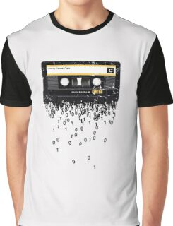 THE DEATH OF THE CASSETTE TAPE - GRUNGE TEXTURE Graphic T-Shirt
