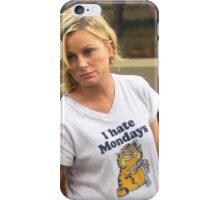 Leslie hates mondays iPhone Case/Skin