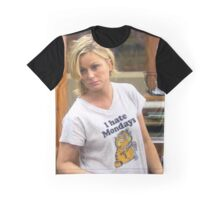 Leslie hates mondays Graphic T-Shirt