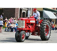 Red Tractor on Parade Photographic Print