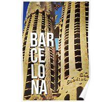 BARCELONA SAGRADA FAMILIA GAUDI ARCHITECTURE PHOTOGRAPHY Poster