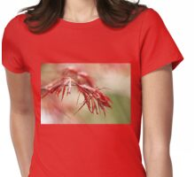 Red Lace Womens Fitted T-Shirt