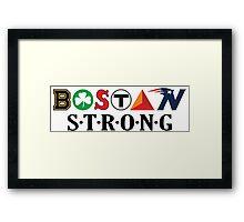 BOSTON Strong Framed Print