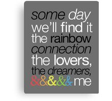 Rainbow Connection Canvas Print