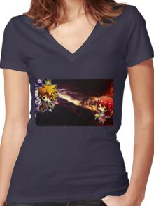 One Sky, One Destiny Women's Fitted V-Neck T-Shirt