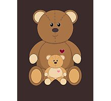 TWO TEDDY BEARS Photographic Print