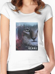 keanu  Women's Fitted Scoop T-Shirt