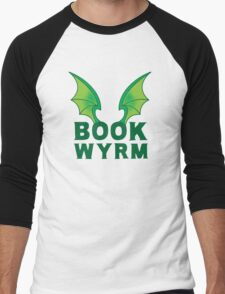 BOOK WYRM (bookworm) Dragon wings Men's Baseball ¾ T-Shirt