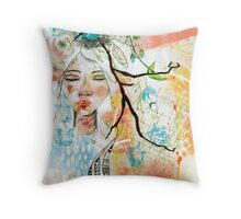 Wild Woman Seeker Throw Pillow