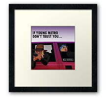 young metro Framed Print