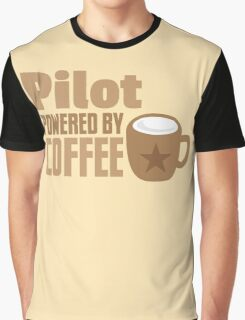 pilot powered by coffee Graphic T-Shirt