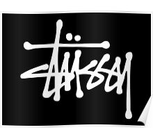 White Stussy Logo! high quality! Poster