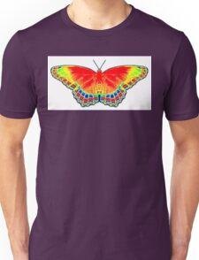 Colorful Butterfly - Red Unisex T-Shirt