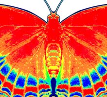 Colorful Butterfly - Red Sticker