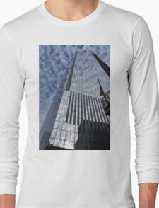 Silver and Blue - Cloud Puffs and Glass Skyscrapers Long Sleeve T-Shirt