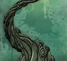 Gnarly Tree and Crescent Moon by SuspendedDreams
