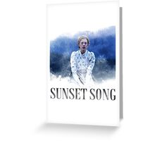 sunset song Greeting Card