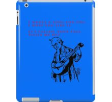 Song Writer iPad Case/Skin