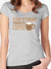 flight attendant powered by coffee Women's Fitted Scoop T-Shirt