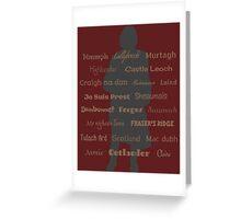 Outlander/Jamie Silhouette  Greeting Card