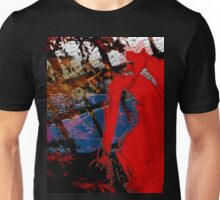 Neon Nude in Red Unisex T-Shirt