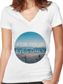 If I Could Fly Women's Fitted V-Neck T-Shirt