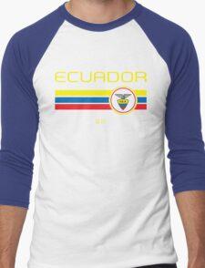 Copa America 2016 - Ecuador (Away Blue) Men's Baseball ¾ T-Shirt