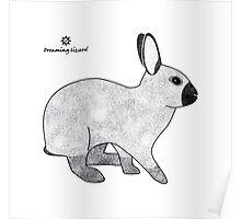 Rabbit Champagne D'Argent Poster