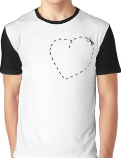 Love Heart Cool Cute Heart Funny Valentine Graphic T-Shirt