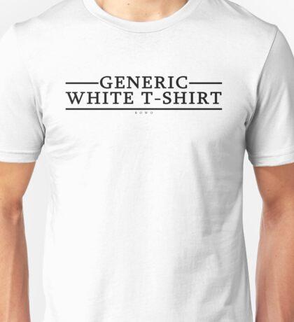 Generic White T-Shirt Unisex T-Shirt