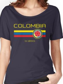 Copa America 2016 - Colombia (Away Dark Blue) Women's Relaxed Fit T-Shirt