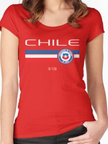 Copa America 2016 - Chile (Home Red) Women's Fitted Scoop T-Shirt