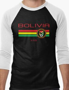 Copa America 2016 - Bolivia (Home Green) Men's Baseball ¾ T-Shirt