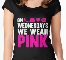 Wednesday we wear pink Women's Fitted Scoop T-Shirt