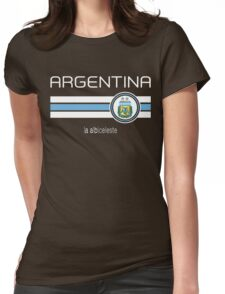 Copa America 2016 - Argentina (Away Blue) Womens Fitted T-Shirt
