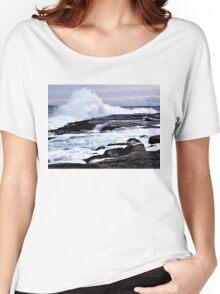 Ferocious Ocean -- Peggy's Cove, Nova Scotia Women's Relaxed Fit T-Shirt